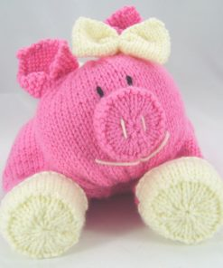 pig pyjama case in chunky knitting pattern
