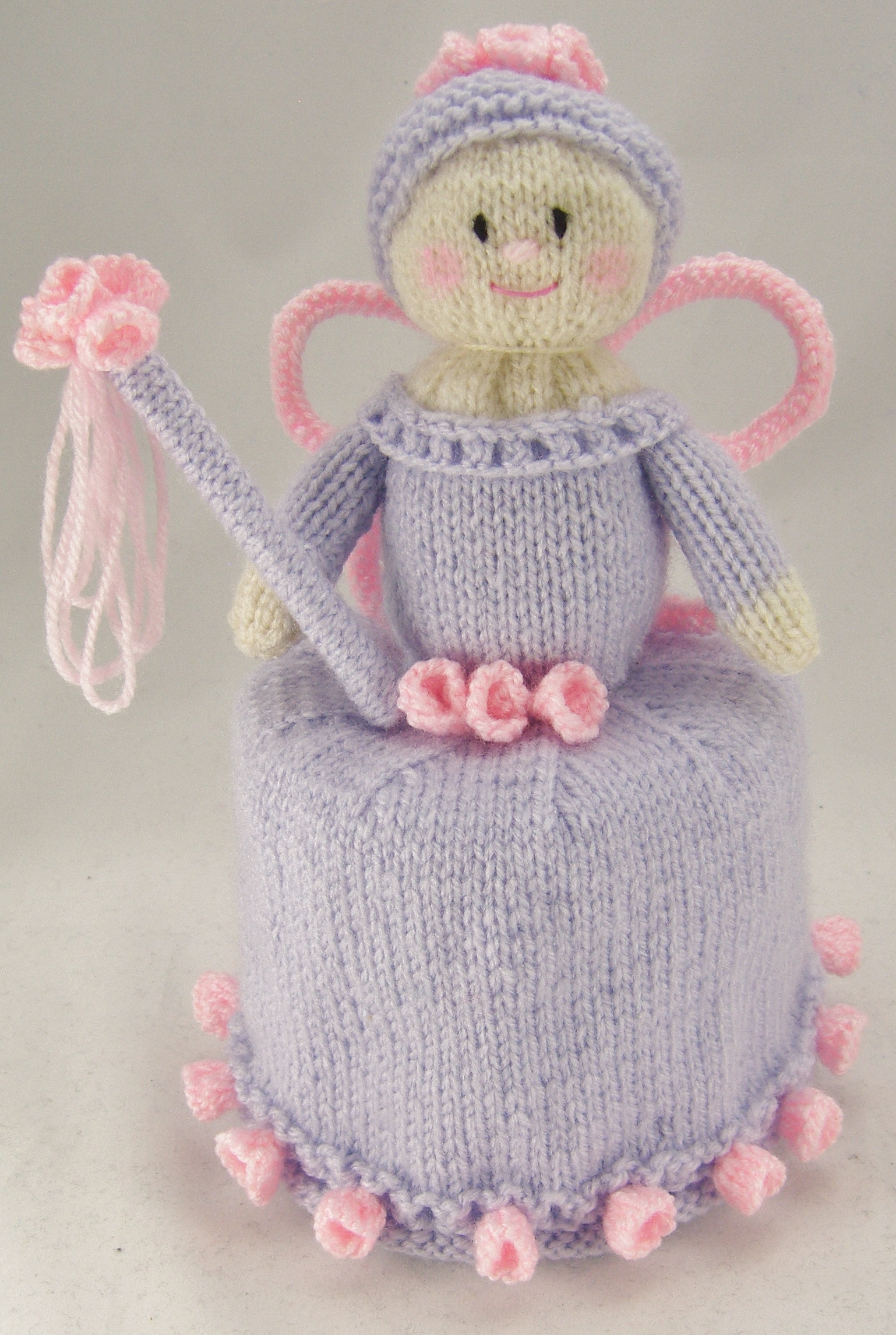 Flower Fairy Toilet Roll Holder Knitting Pattern   Knitting by Post