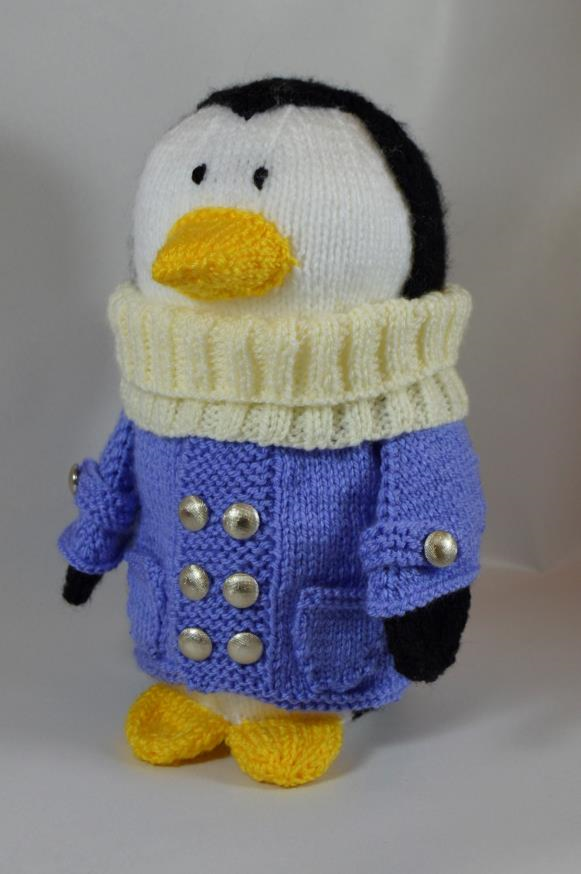 Traveling Penguin Soft Toy Knitting Pattern Knitting By Post