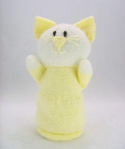 pussy cat puppet knitting pattern yellow