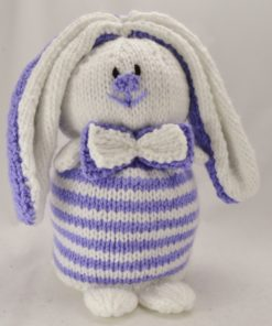 rabbit bunny doorstop knitting pattern