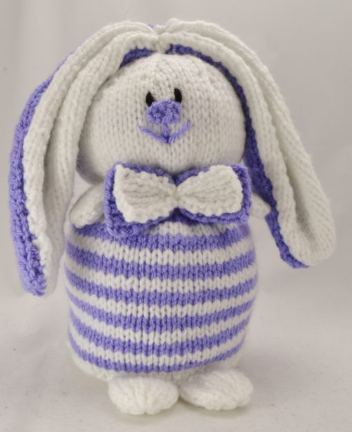 rabbit bunny doorstop knitting pattern