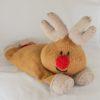 reindeer pyjama nightie case knitting pattern chunky brown red nose