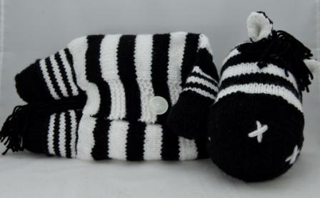Zebra Pyjama Case Knitting Pattern