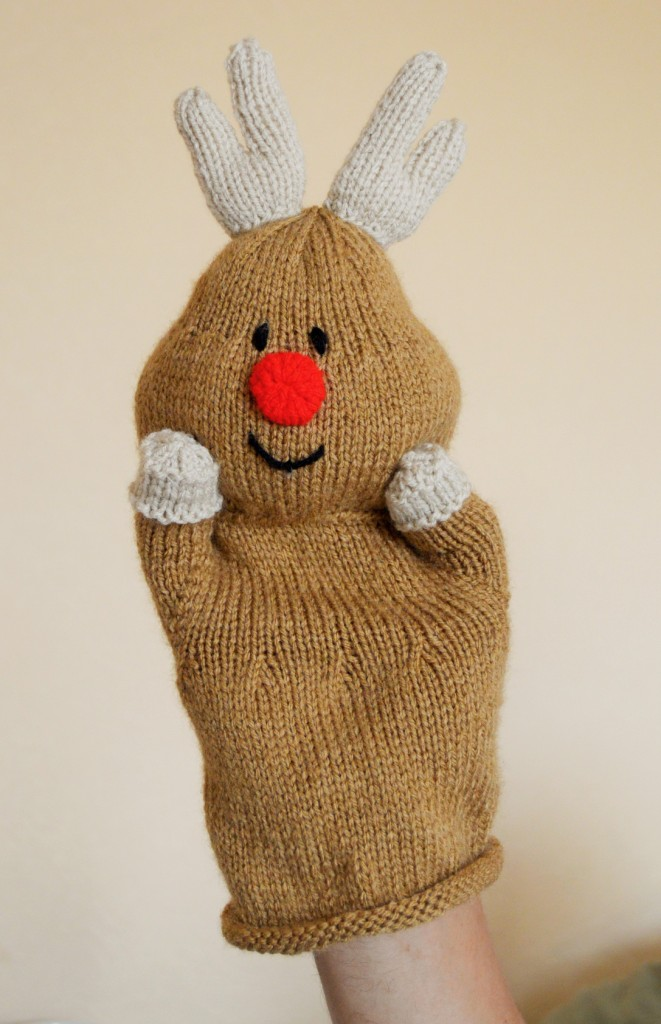 Reindeer Hand Puppet Knitting Pattern Knitting By Post