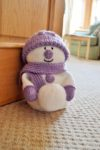 snowman doorstop knitting pattern