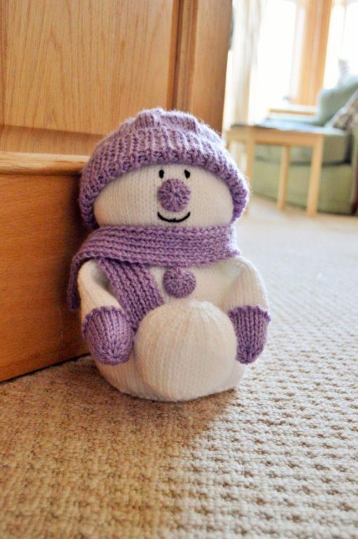 snowman doorstop knitting pattern