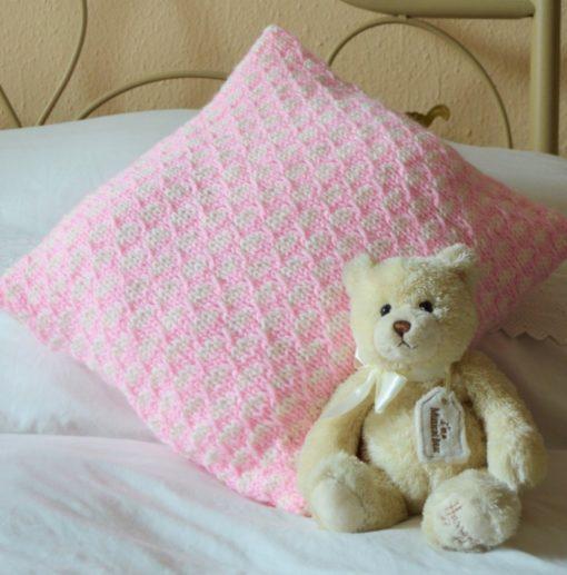 waffle cushion cover knitting pattern