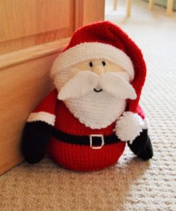 santa doorstop knitting pattern christmas