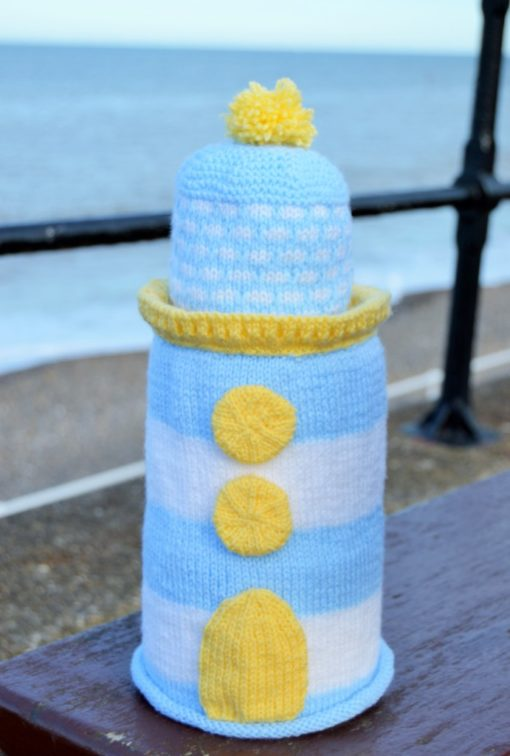 lighthouse toilet roll cover knitting pattern
