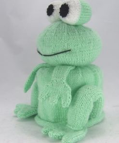 frog toilet roll cover knitting pattern side