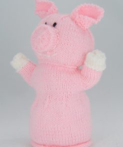 pig hand puppet knitting pattern side
