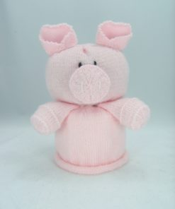 pig toilet roll cover knitting pattern pink front