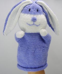 bunny puppet knitting pattern with hand inside