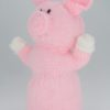 pig hand puppet knitting pattern in pink double knitting