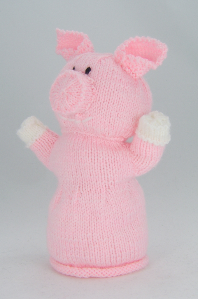Pig hand puppet knitting pattern knitting by post for Pig puppet template