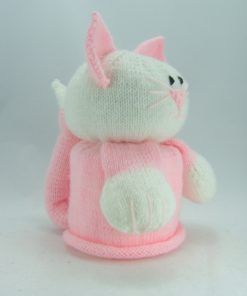 cat toilet roll cover knitting pattern side