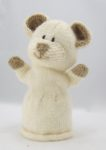 cute bear puppet knitting pattern cream and brown