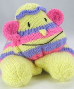 monkey pyjama case knitting pattern front