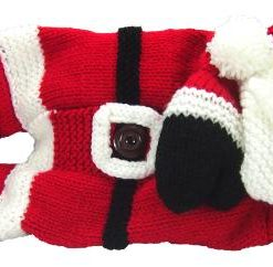 santa knitting pattern pyjama case