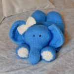 elephant pyjama nightie case knitting pattern chunky blue