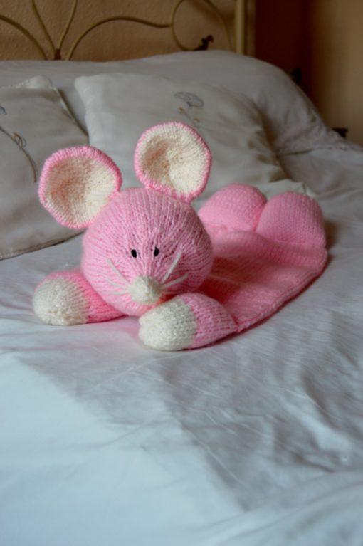 mouse pyjama case knitting pattern