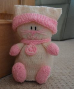cat doorstop knitting pattern