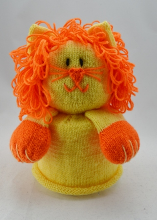 Lion Toilet Roll Cover Knitting Pattern