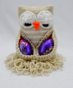Chocolate Egg Owl Knitting Pattern