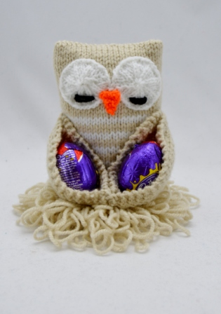 Chocolate Egg Owl Knitting Pattern Knitting By Post