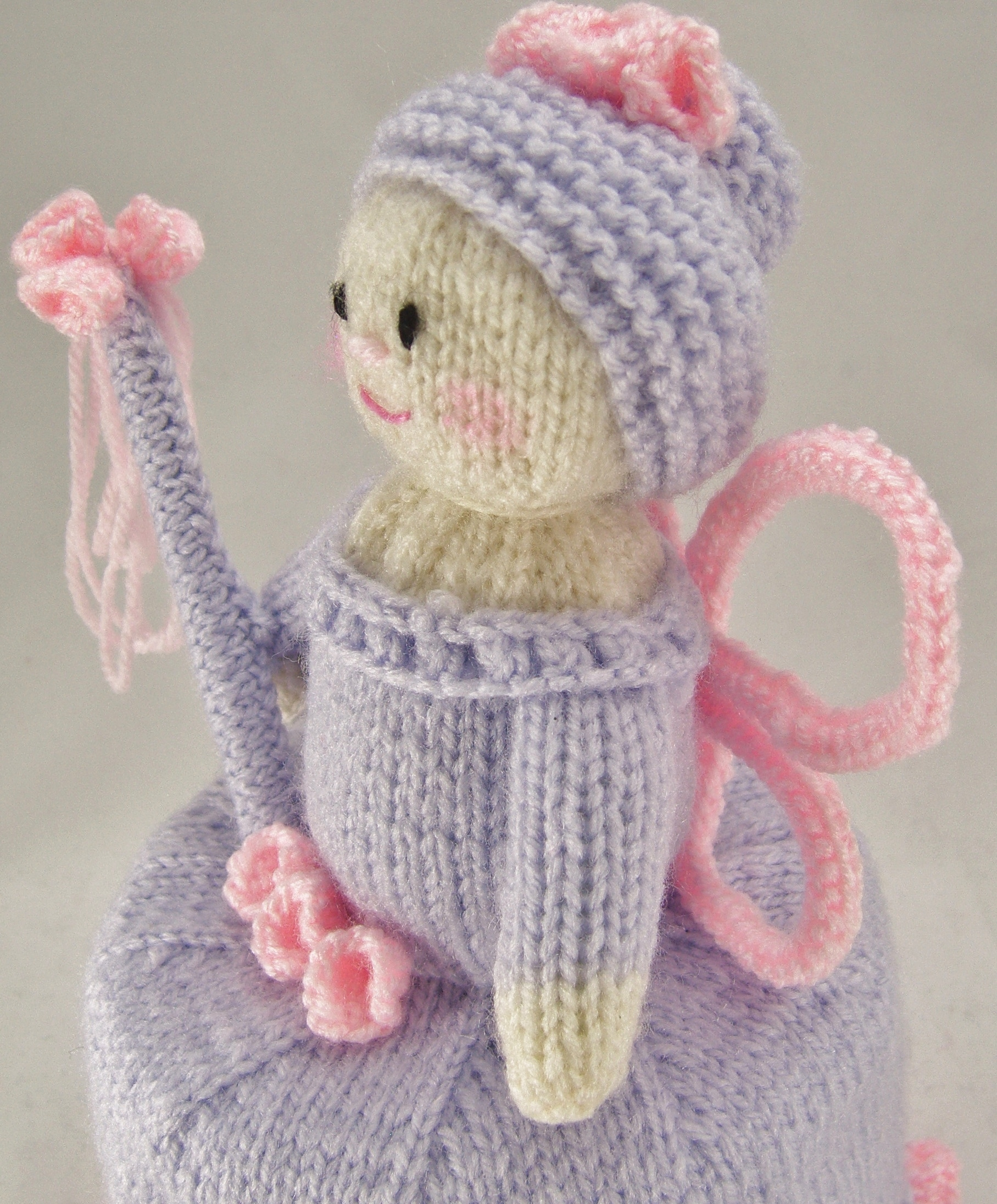 Flower Fairy Toilet Roll Cover Knitting Pattern – Knitting by Post