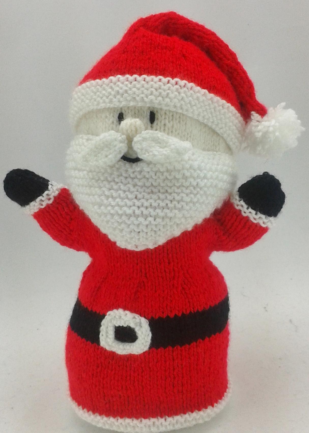 Easy Finger Puppet Knitting Pattern : Santa hand puppet knitting pattern by post