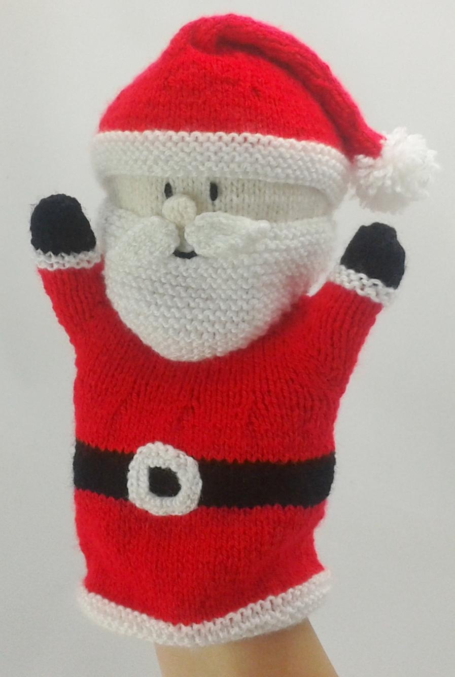santa hand puppet knitting pattern  u2013 knitting by post