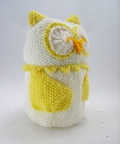 owl toilet roll cover knitting pattern side