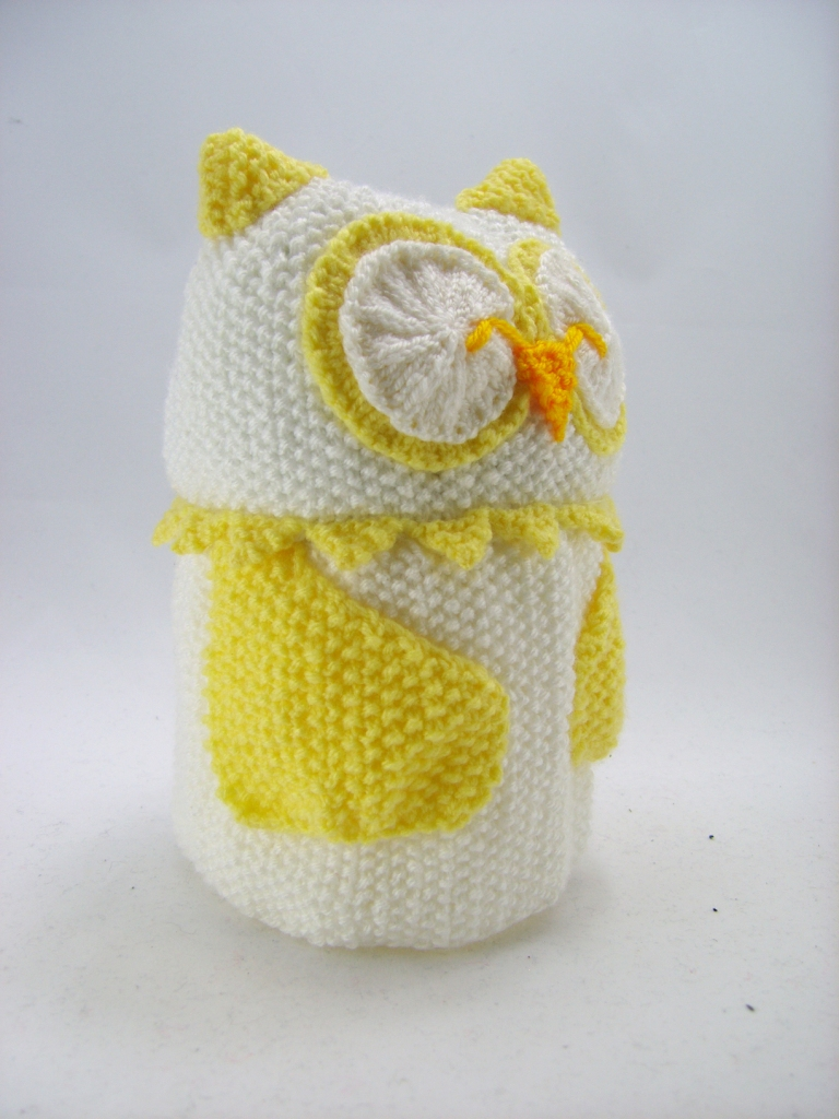 Toilet Roll Cover Knitting Pattern : Owl Toilet Roll Cover Knitting Pattern   Knitting by Post