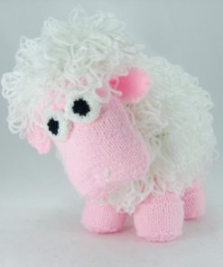 sheep knitting pattern pink and white loop stitch