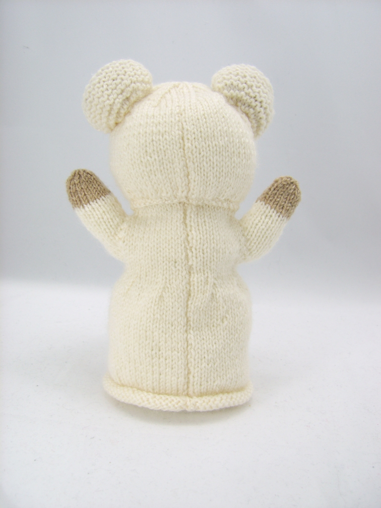 Knitting With Hands Instructions : Bear hand puppet knitting pattern by post