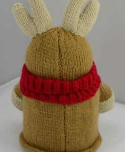 reindeer back knitting pattern