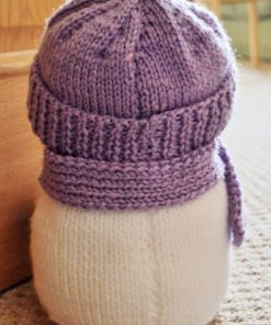 snowman back knitting pattern