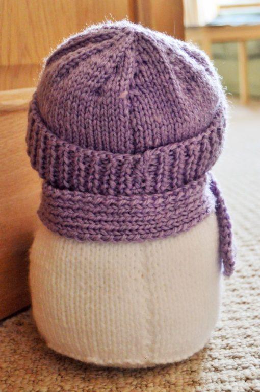 snowman back knitting pattern