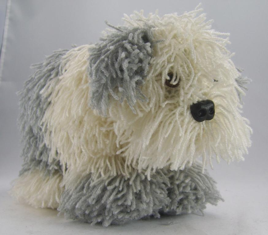Cracker the Old English Sheepdog   Knitting by Post