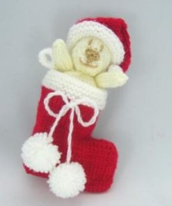 bear stocking knitting pattern