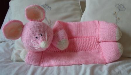 mouse pyjama case knitting patern