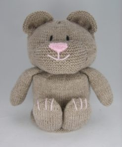 knitted bear toilet roll cover