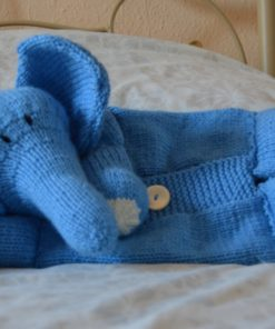 elephant pyjama case knitting pattern