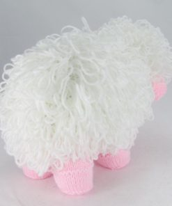 knitted sheep pattern loop stitch bottom