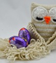 knitted egg owl