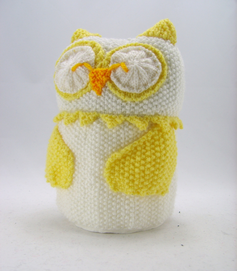 Owl Toilet Roll Cover Knitting Pattern – Knitting by Post
