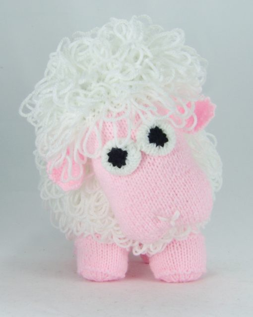 knitted sheep pattern loop stitch front