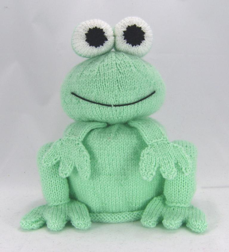 Knitted Frog Pattern : Bog Frog Toilet Roll Cover Knitting Pattern   Knitting by Post